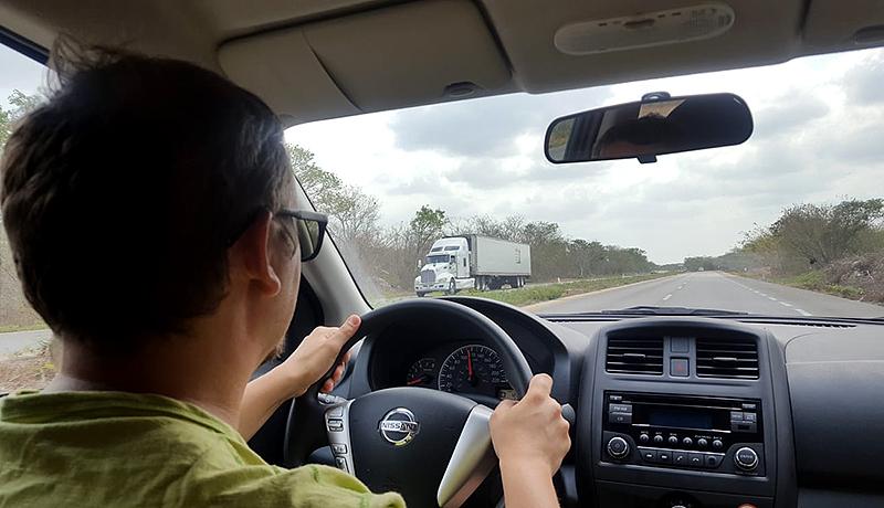 Șofer în Yucatan, Mexic